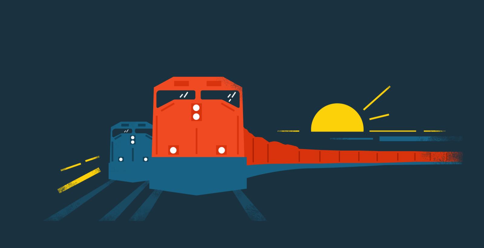 Железнодорожный рейтинг иллюстрация